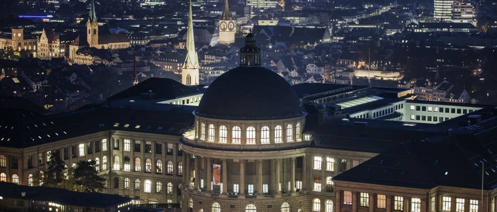 ETH Zurich by night. Wikimedia Commons, User:ETH-Bibliothek, CC BY-SA 4.0