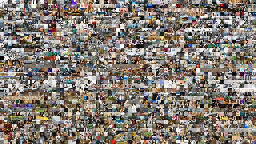 collection of 2304 thumbnails used in project