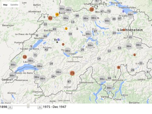 VSJF-Refugees Google Maps Visualization