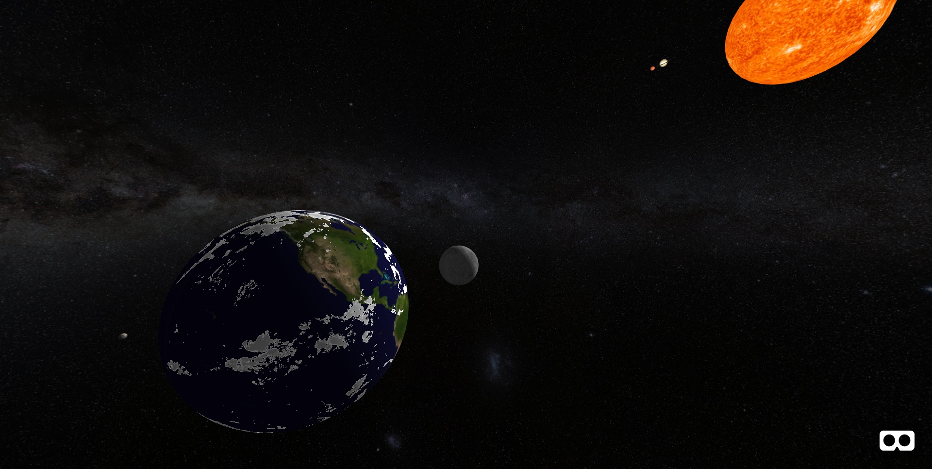 Simulation of the Ptolemaic system of the universe