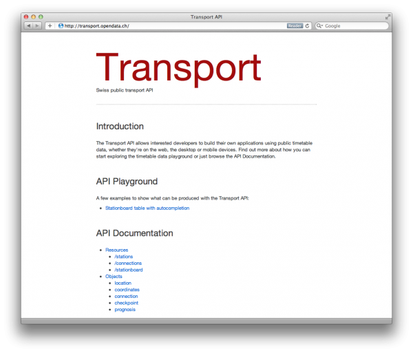 project:transport_api [make opendata ch wiki]